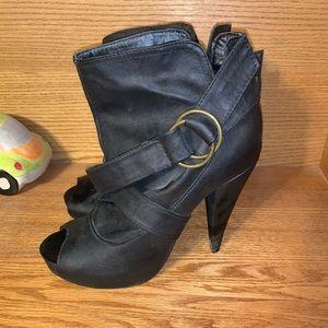 Black Charlotte Russe booties